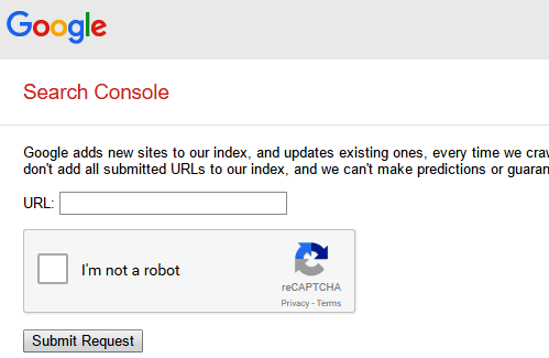 submit url tool by google